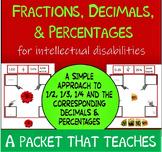 NO PREP Visual Fractions, Decimals & Percents for Intellec