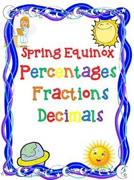 Fractions, Decimals, & Percents for Spring