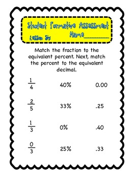 Fractions, Decimals, Percents on a number line UNIT