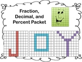 Fractions, Decimals, Percents using Names