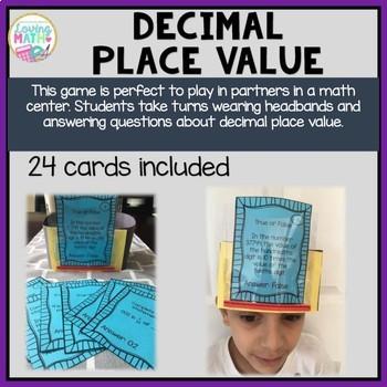 Fractions, Decimals, Place Value, Geometry, Time - Headbands Game BUNDLE