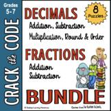 Fractions & Decimals Computation Practice   Crack the Code
