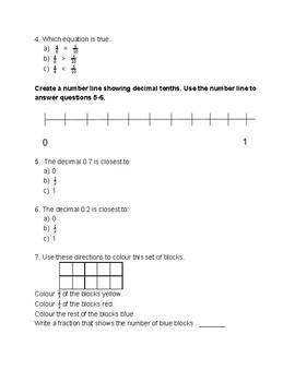 Fractions & Decimals Quiz 2