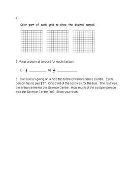 Fractions & Decimals Quiz