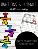 Fractions & Decimals Skittles Activity