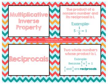 Fractions & Decimals Vocabulary Cards