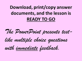 Fractions, Decimals,and Mixed Numbers TEST PREP