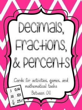 Decimals, Fractions, and Percent Cards
