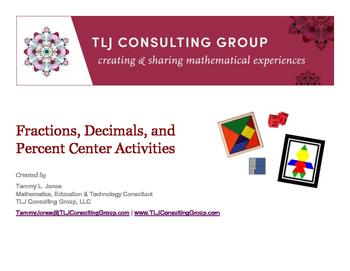 Fractions, Decimals and Percent Centers
