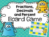 Fractions Decimals and Percent Conversion Board Game