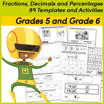 Fractions, Decimals and Percentages - 89 Templates and Activities.