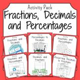 Fractions, Decimals and Percentages Activities