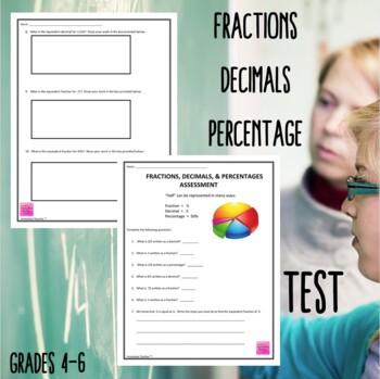 Fractions, Decimals, and Percentages Assessment