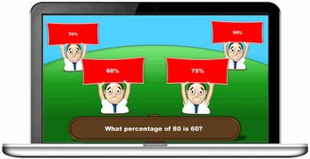Fractions, Decimals and Percentages Quiz Game