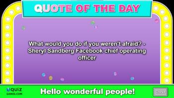 Fractions, Decimals and Percentages Quiz Game