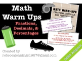 Fractions, Decimals, and Percentages Warm-Ups