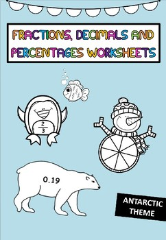 Fractions, Decimals and Percentages Worksheets