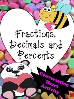 Valentine Fractions, Decimals and Percents