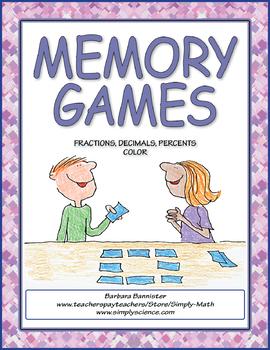 Fractions, Decimals, and Percents Memory Game
