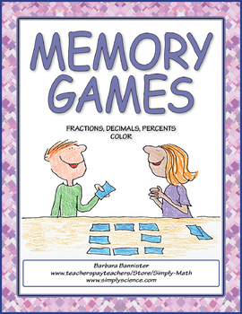 Fractions, Decimals, and Percents Memory Game