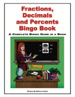 Fractions, Decimals and Percents Bingo Book