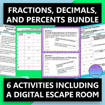 Fractions, Decimals, and Percents Bundle