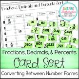 Fractions, Decimals, and Percents Card Sort