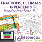Converting Fractions, Decimals, and Percents Math Center Resources