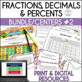 Converting Fractions, Decimals, and Percents Activity Bundle