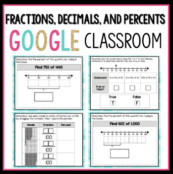 Fractions, Decimals, and Percents Digital Activities