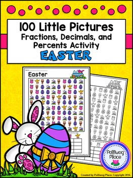Fractions Decimals and Percents: Easter Math Activity