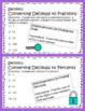 Converting Fractions, Decimals, and Percents Escape Room using Google Forms