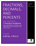 Fractions, Decimals, and Percents Notes and Practice