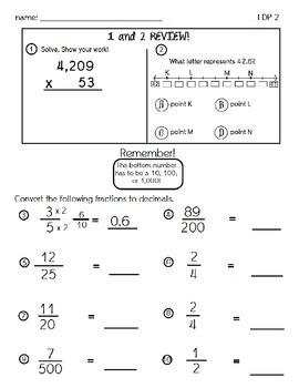 Fractions, Decimals, and Percents Practice