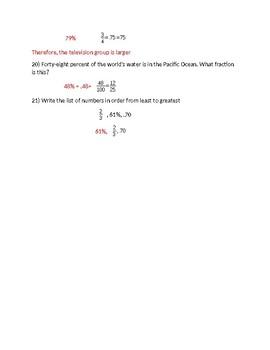 Fractions,  Decimals, and Percents Practice Problems