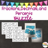 Fractions, Decimals, and Percents Puzzle