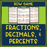 Fractions, Decimals, and Percents Row Game