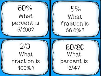 Fractions, Decimals, and Percents Scavenger Hunt