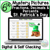 Fractions, Decimals and Percents St Patrick's Day Mystery Picture