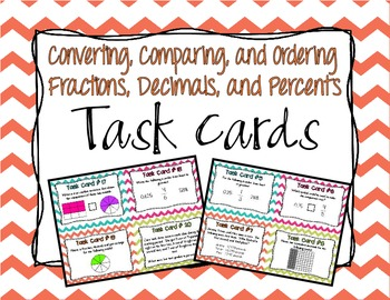 Fractions, Decimals, and Percents Task Cards