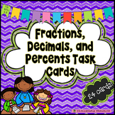 Fractions, Decimals, and Percents Task Cards