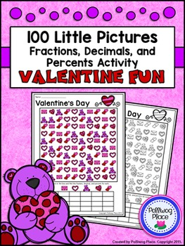 Fractions Decimals and Percents: Valentine's Day Math Activity