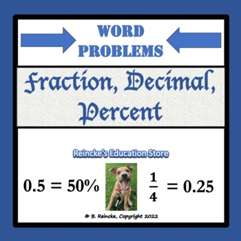 Fractions, Decimals, and Percents Word Problems