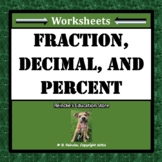 Fractions, Decimals, and Percents Worksheets