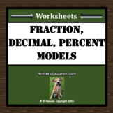 Fractions, Decimals, and Percents with Grids (2 worksheets)