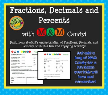 Fractions, Decimals, and Percents with M&Ms!
