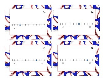 Fractions & Decimals on a Number Line Game