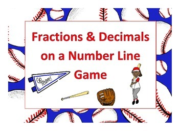 Fractions & Decimals on a Number Line Game