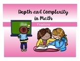 Fractions Word Problems - Depth and Complexity