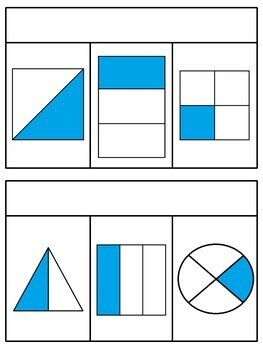 Fractions Book (Half of, Third Of, Fourth Of) - UK spelling included